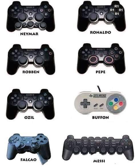 Ini Jadinya Jika Pemain Bola Terkenal Disamakan Joystik