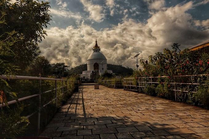 Santi stupa Japanese monestery Pokhara