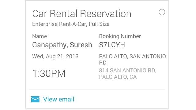 Google Now updated for Android devices now reminds you of your concert and cinema tickets and car rentals