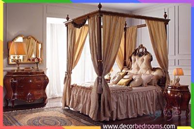 ترتيب سرير نوم في وسط الغرفة