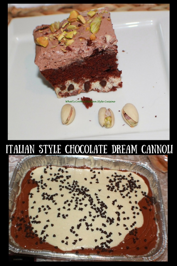 Italian Style Chocolate Dream Cannoli Cake Recipe