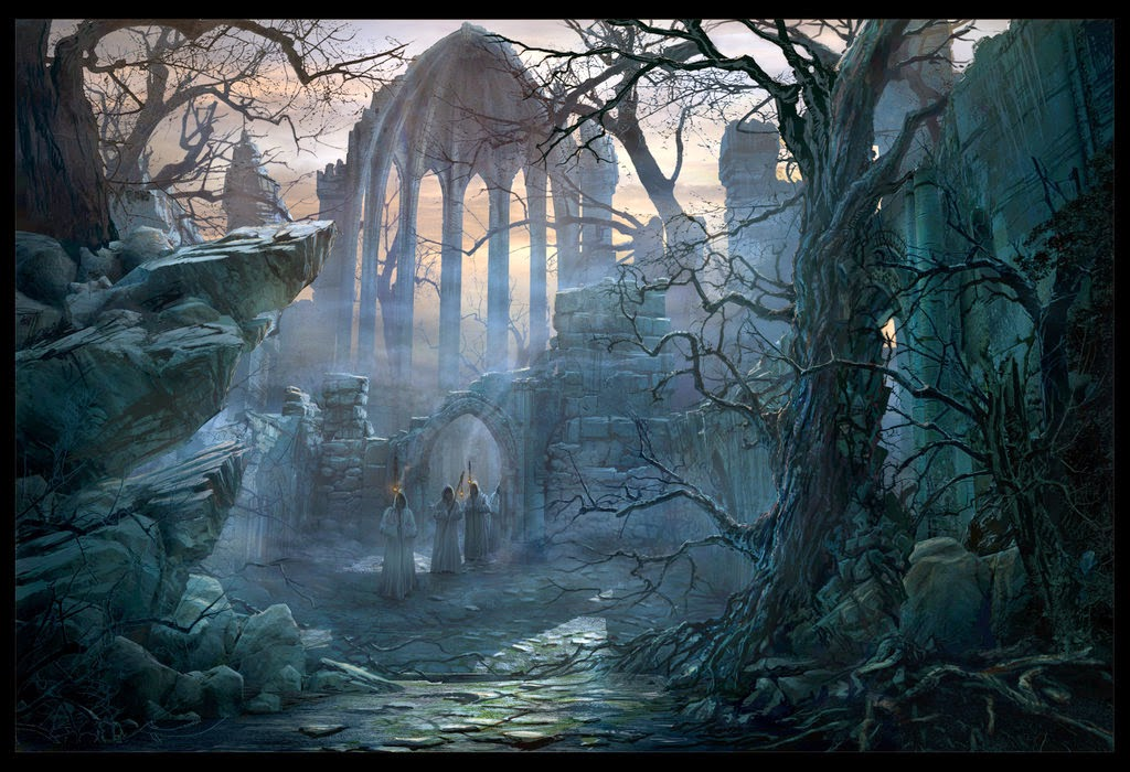 14-Path-to-the-Gothic-Choir-Raphael-Lacoste-Matte-Paintings-and-Concept-Worlds