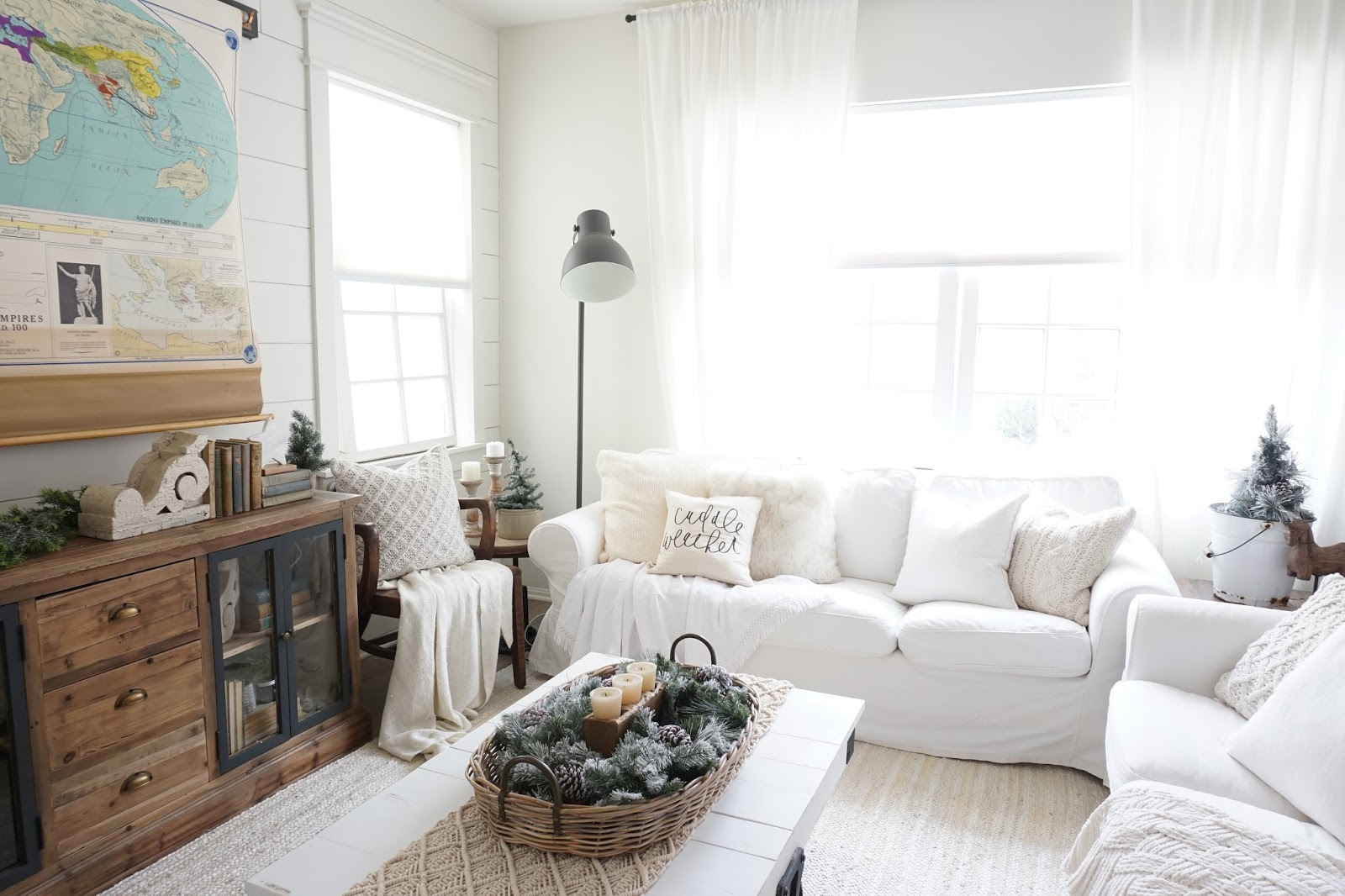Cozy Cottage Winter Living Room - Mrs Rollman Blog
