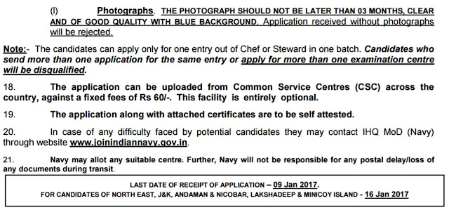 Indian Navy MR NMR Recruitment Applying Process