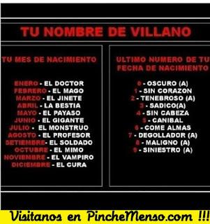 Encuentra tu nombre de villano
