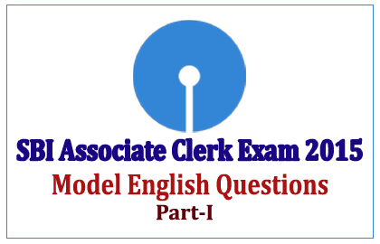 SBI Associate Clerk Exam 2015 Model Questions