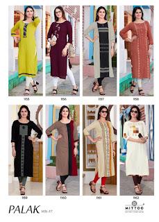 Mittoo Palak vol 17 Casual wear kurti
