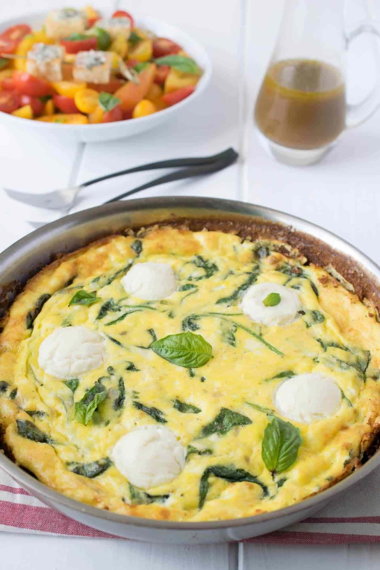 Ricotta and Spinach Frittata from Culinary Ginger