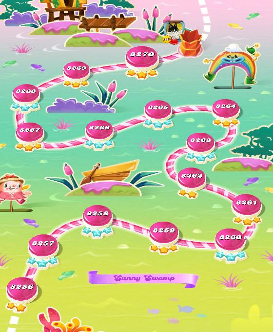 Candy Crush Saga level 8256-8270