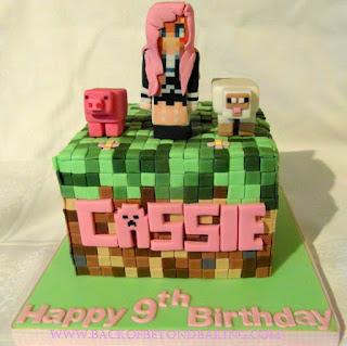 LD Shadowlady minecraft cake