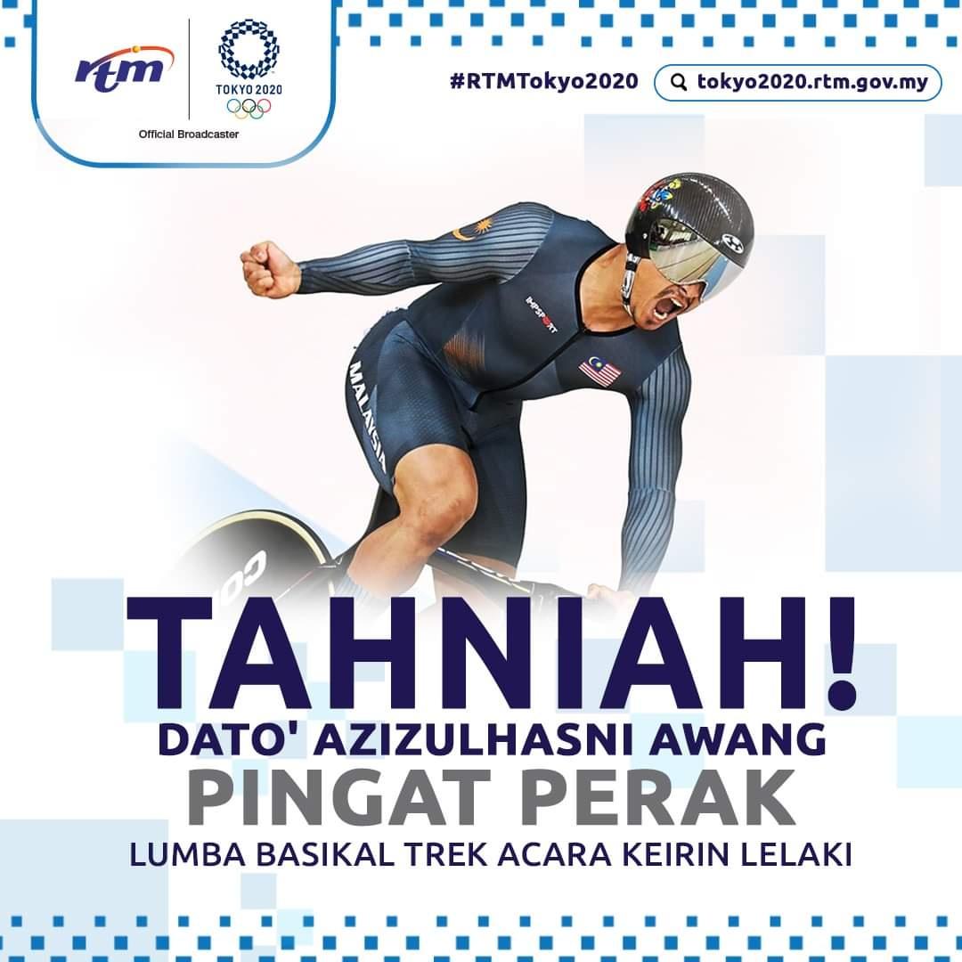 Syabas Pocket Rocketman, Dato' Azizulhasni Awang Pingat Perak Olimpik Tokyo 2020