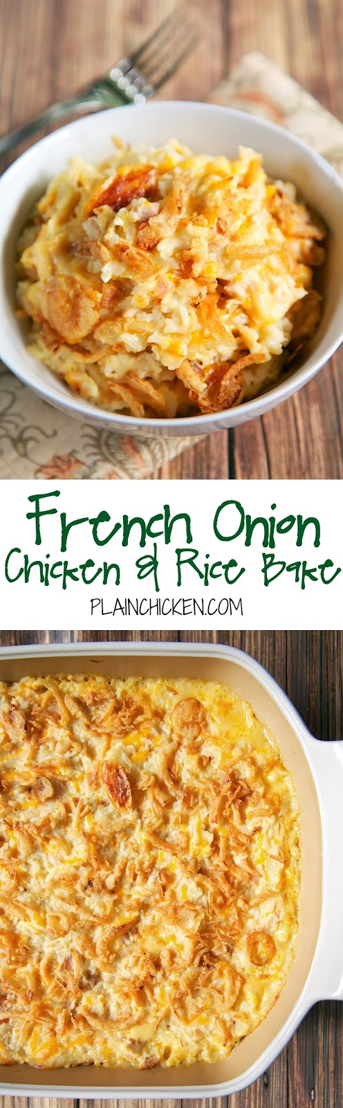 French Onion Chicken And Rice Bake Plain Chicken