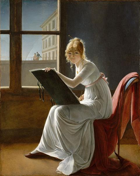 Marie-Denise Villers Молодая женщина рисует