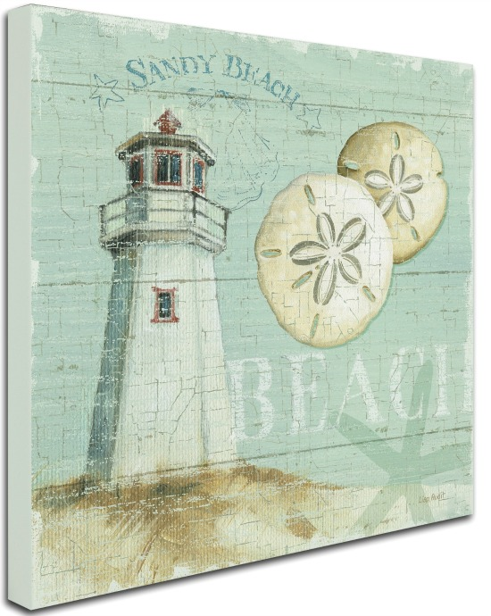 Beach Lighthouse Canvas Art