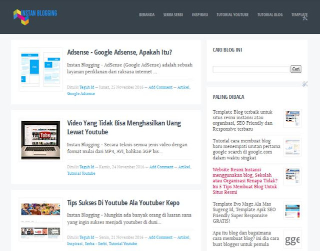 Template Blog SEO Friendly Blogku Mas Sugeng Id
