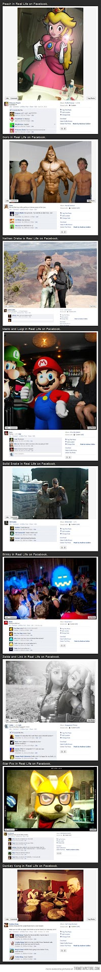 video game characters in real life on facebook
