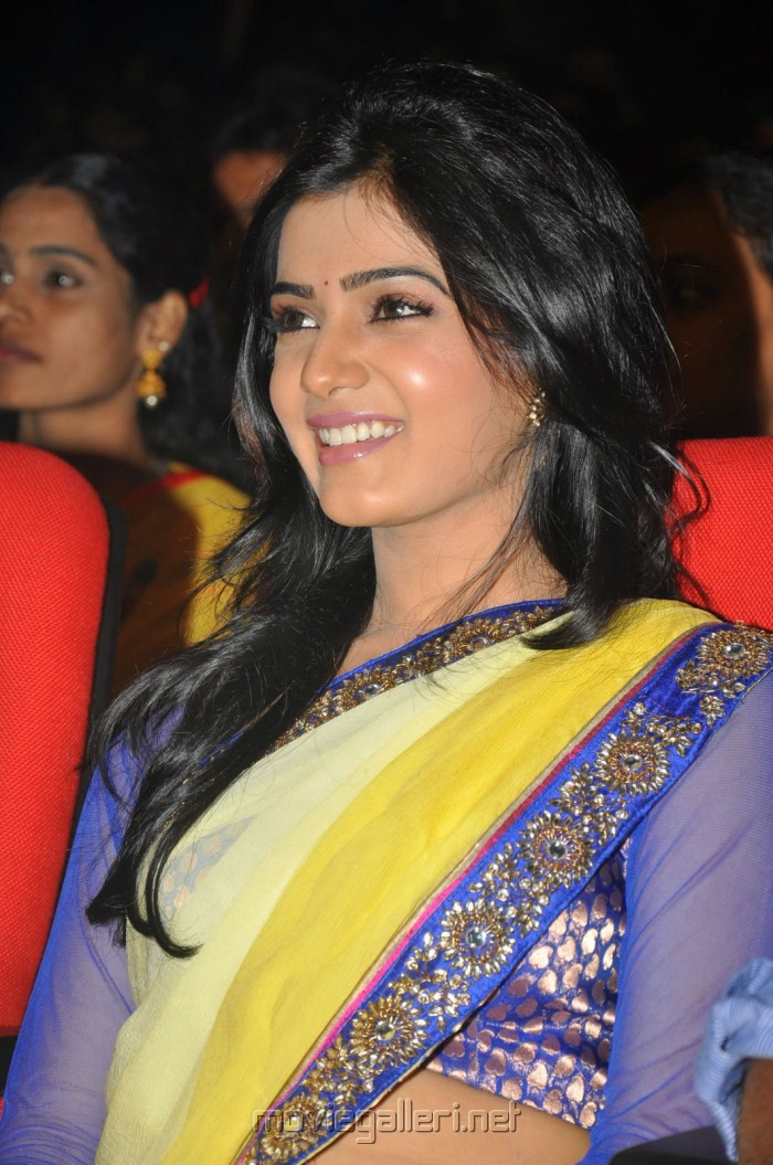 Latest Movies Gallery: SAMANTHA in SAREE NEW HOT IMAGES | 700 x 1055 jpeg 183kB