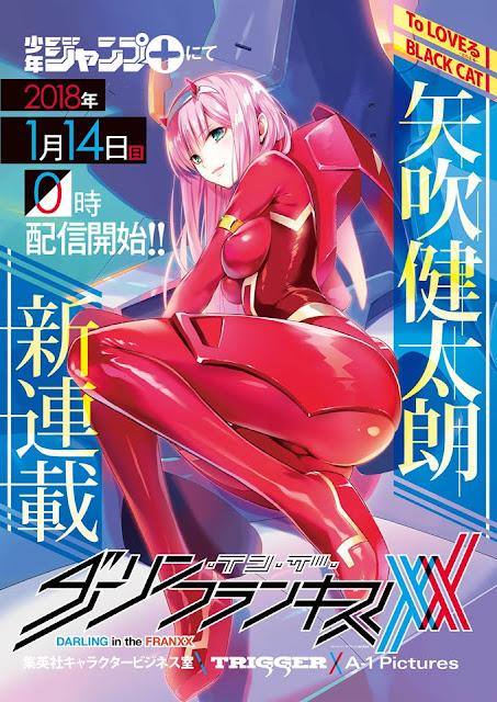 """""""ToLOVERu"""" Manga Illustrator Draws """"Darling in the Franxx"""" Manga"""