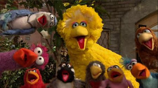 """""""That's Cooperation"""" song performed by Big Bird and the birds, Sesame Street Episode 4406 Help O Bots, Help-O-Bots season 44"""