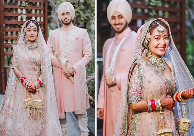 Neha kakkar ने पति रोहत प्रीत संग शेयर की शादी की तस्वीर, लाइट पिंक ड्रेस में बेहद आकर्षक नजर आए कपल