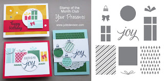 Stampin' Up! Your Presents Card Kit for 2015 Holiday Catalog -- Stamp of the Month Club #stampinup www.juliedavison.com