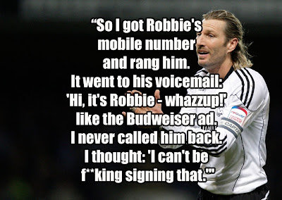 roy keane robbie savage quote at sunderland football club