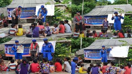Polair Polres Karimun Bangkitkan Semangat Belajar Bagi Anak Terisolasi di Pendalaman