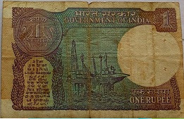 ONE RUPEE Note 1991 Montek song Ahluwalia Finance Secretary