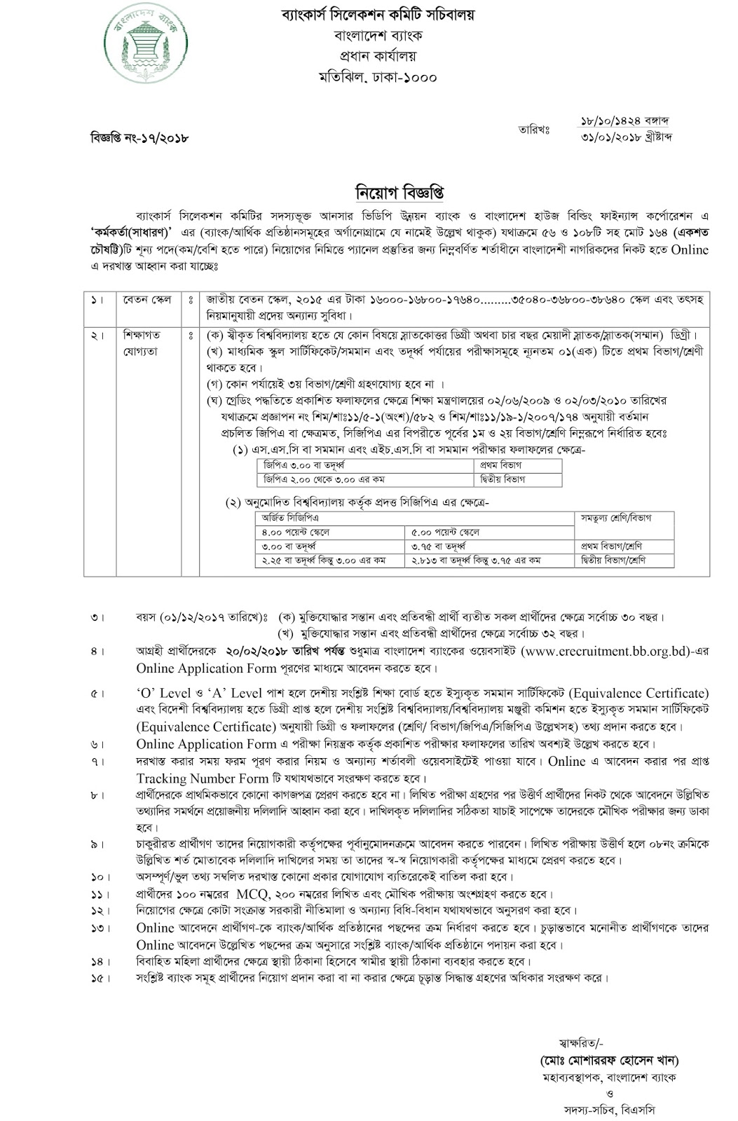 Ansar VDP Unnoyon Bank And HBFC Exam Notice - dailyjobsbd