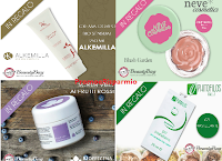 Logo Diventa tester Neve Cosmetics, Biofficina Toscana e Alkemilla