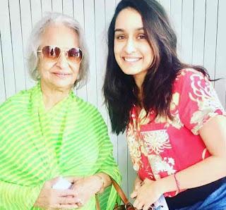 Shraddha Kapoor With Waheeda Rehman