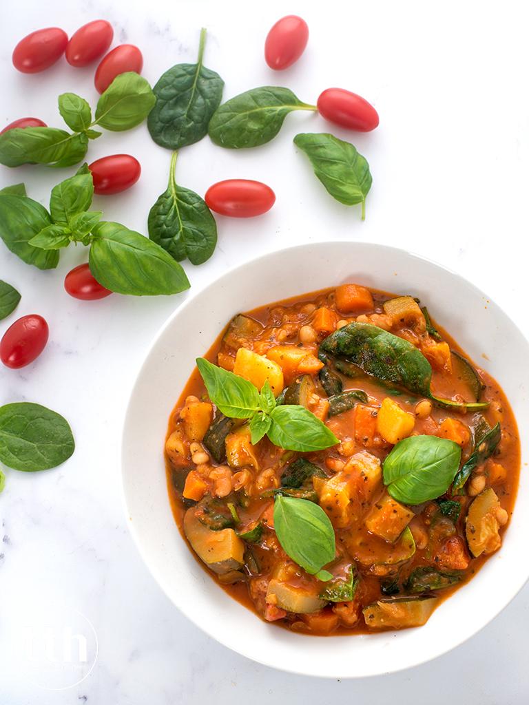 Toskanska zupa z fasola i warzywami - przepis weganski, bezglutenowy