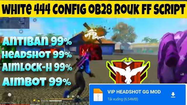 Config Free Fire Ob28 auto headshot | Rouk FF & white 444 config auto headshot