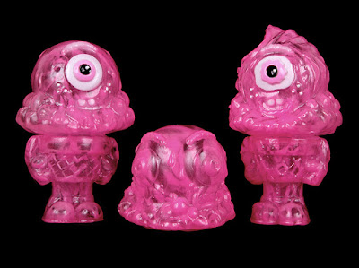 Marbled Pink Mister Melty Vinyl Figures by Buff Monster