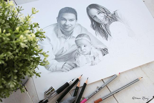Creación de un retrato a lápiz