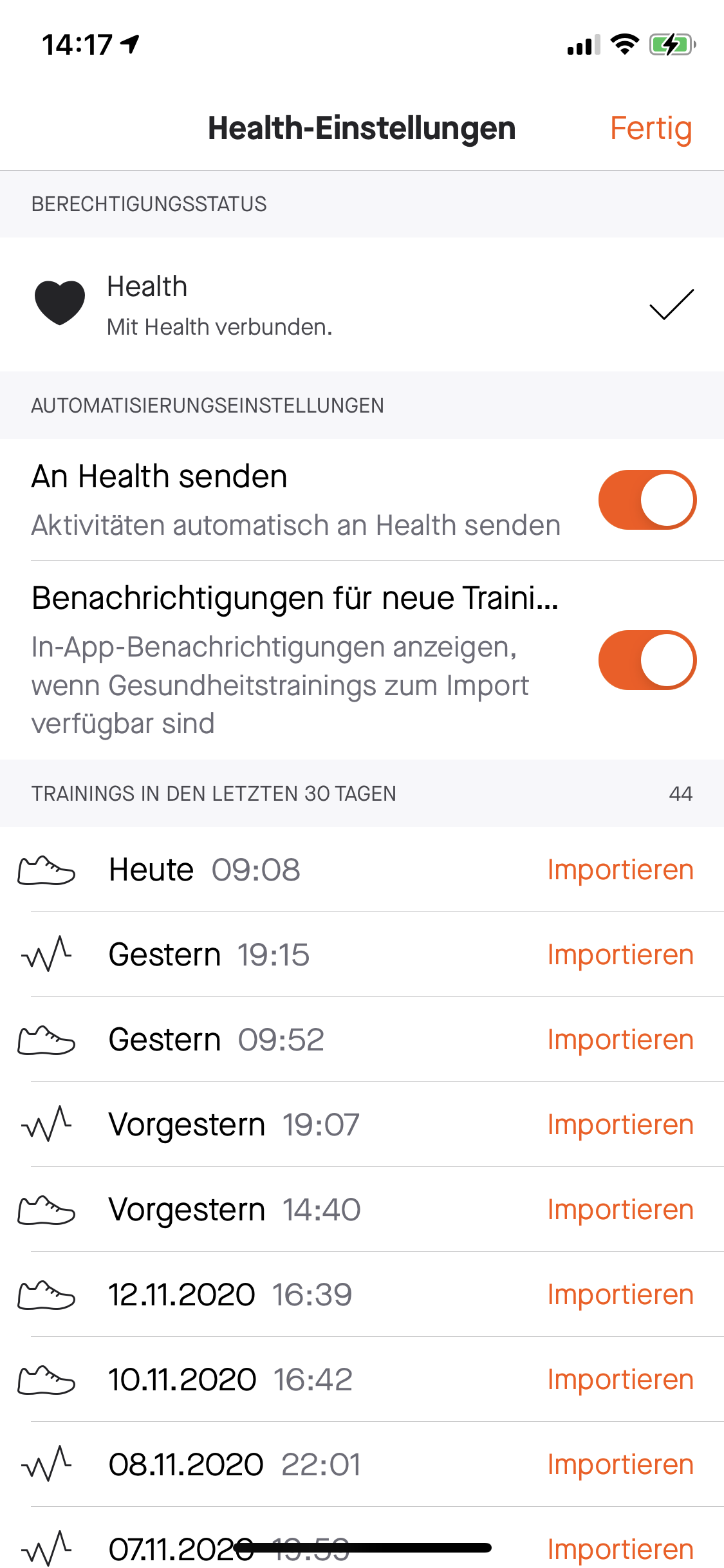 Apple Watch Series 6 Laufen Running Strava Upload