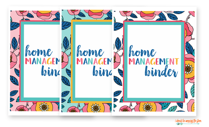 picture about Free Printables for Home titled Cost-free Property Binder Printables i ought to be mopping the flooring