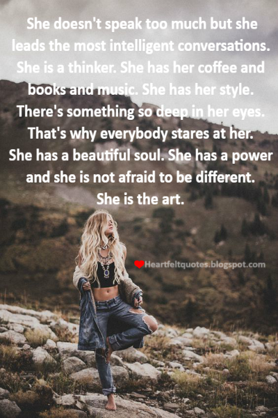 Heartfelt Love And Life Quotes: She has her style.