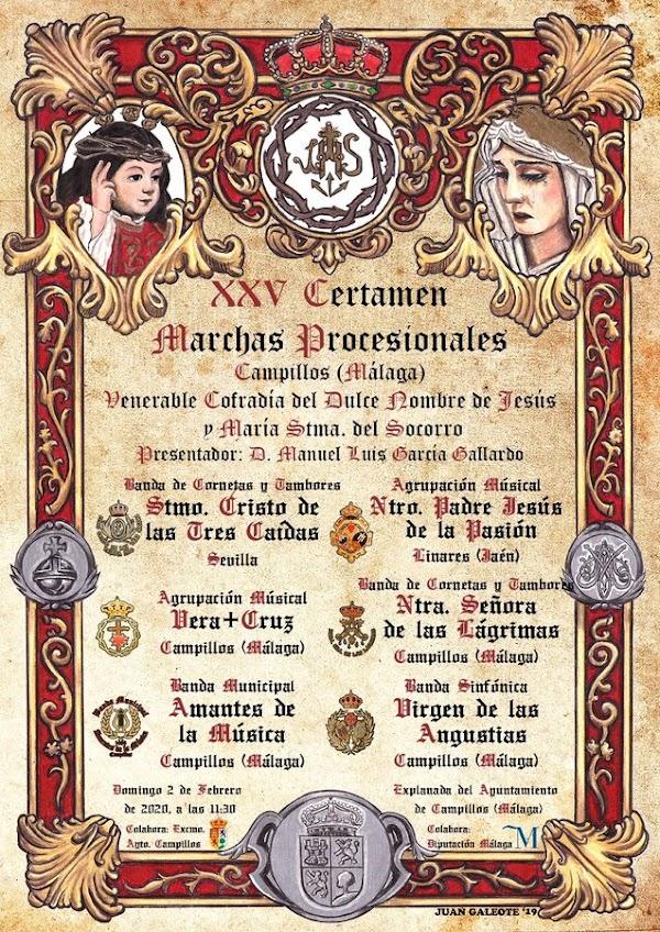 XXV Certamen de bandas organizada por la Cofradía del Dulce Nombre de Campillos