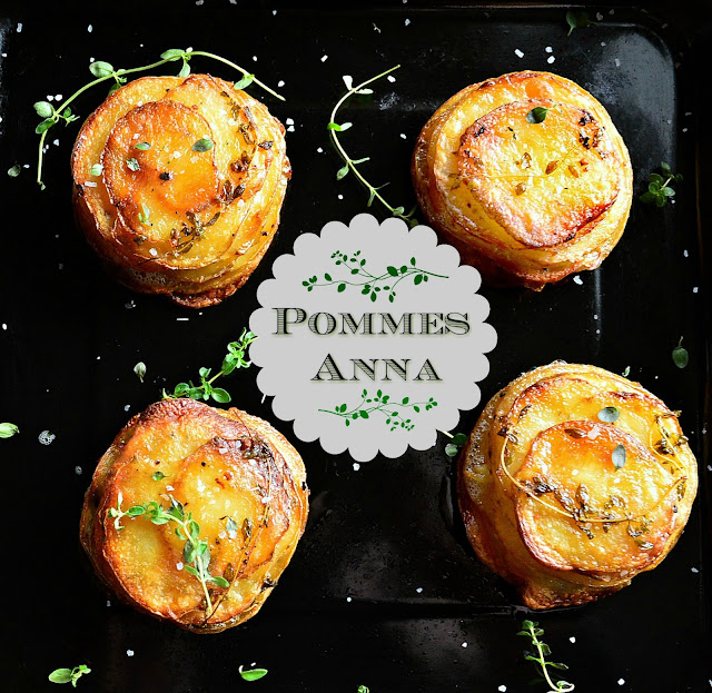 These muffin cup Pommes Anna are really just crisp and golden potatoes on the outside, while creamy and tender within. Impress everyone with this easily made side dish and have them begging for more. www.thisishowicook.com #potatoes #side dish