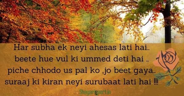 Top 15+ Best Good Morning Shayari in Hindi font