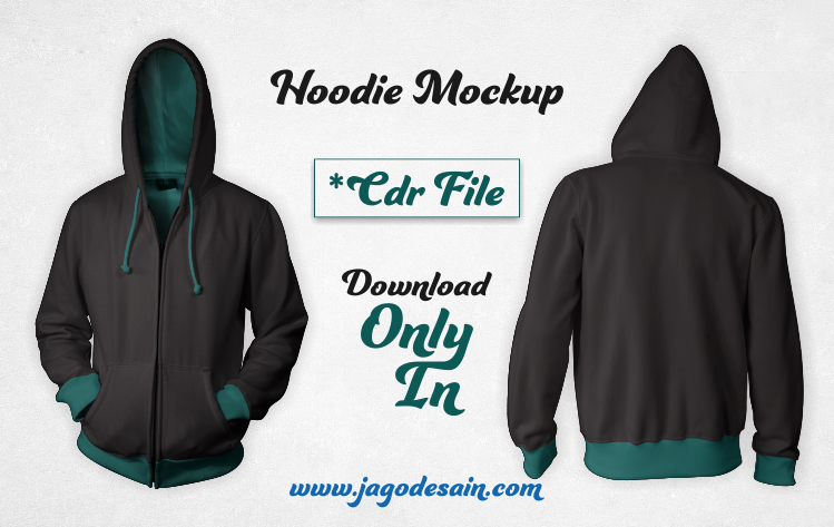 Mockup Zip Hoodie Cdr File Coreldraw Free Download