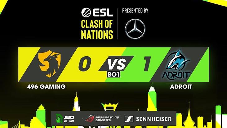 Bất lực trước Adroit, 496 rơi xuống nhánh thua của giải đấu ESL Clash of Nations