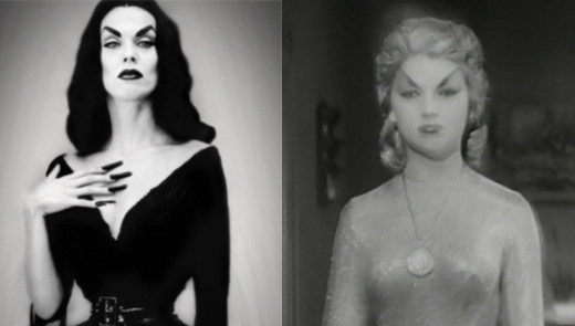 Composite stills - Maila Nurmi as Vampire and Shirley Kilpatrick as the She-Monster