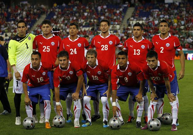 Formación de Chile ante México, amistoso disputado el 4 de septiembre de 2011