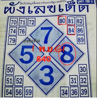 Thai Lottery Free Paper Vip Techniques For 01 February 2019 | Thailand Lotto