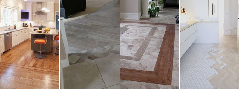 patterned flooring transition inspiration