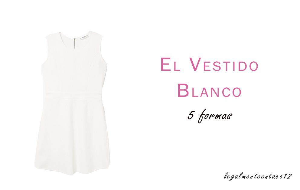 Vestido Blanco Legalmente en taco 12
