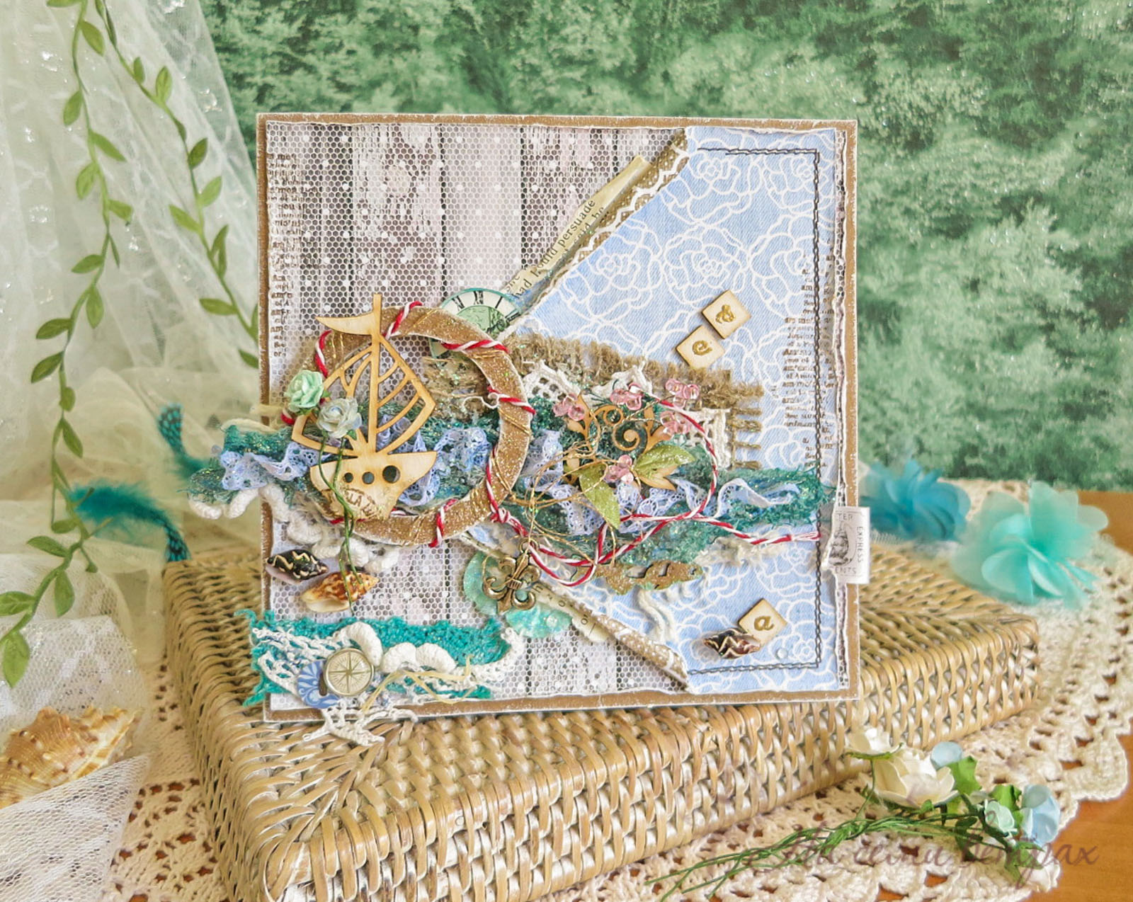Кораблик, морська листівка