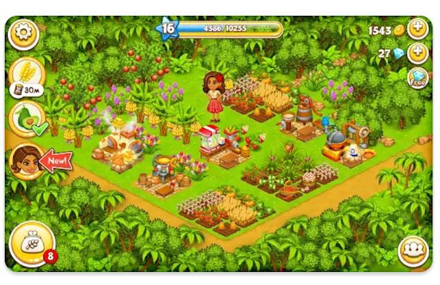 لعبة مزرعة الجنة : لعبة جزيرة المرح للفتيات والفتيان للأندرويد.